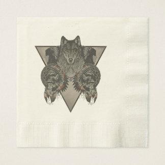 Indians Skull Fantasy Style Paper Napkin