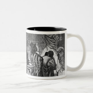 Indians Trading at a Frontier Town Two-Tone Coffee Mug