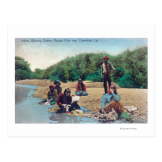 Indians Washing Clothes in the Russian River Postcard