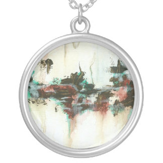 Indication from Painting Round Pendant Necklace