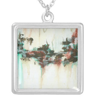 Indication from Painting Square Pendant Necklace