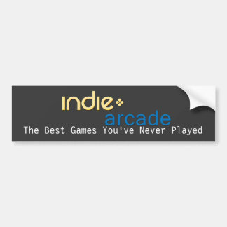 Indie Arcade: The Best Games You've Never Played Car Bumper Sticker