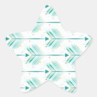 Indie arrow pattern star sticker
