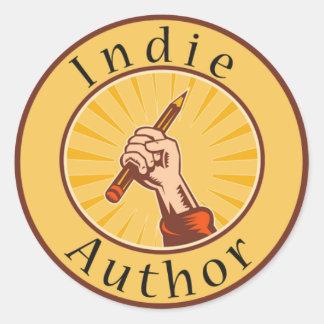 Indie Author Book Cover Round Sticker