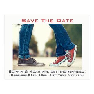 Indie Boho Urban Wedding Save The Date Postcard
