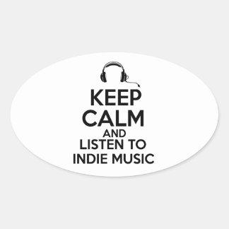 Indie design oval sticker