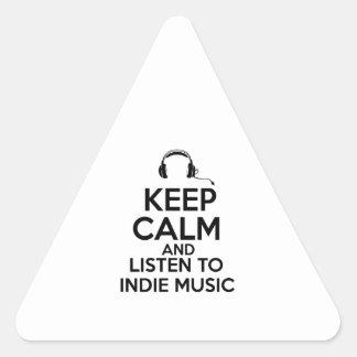Indie design triangle sticker