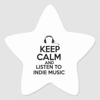 Indie design star sticker
