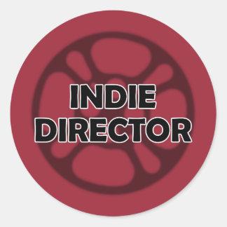 """""""Indie Director"""" Sticker Round Sticker"""