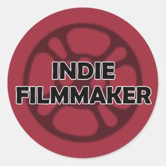 """""""Indie Filmmaker"""" Sticker Round Sticker"""