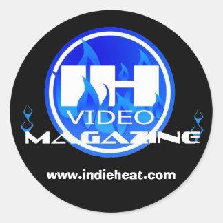 Indie Heat Video Magazine Black & Blue Sticker