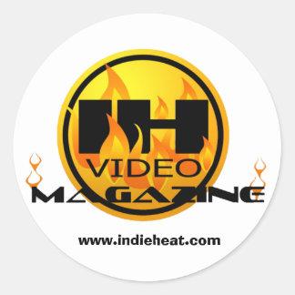 Indie Heat Video Magazine Gold/Black Sticker