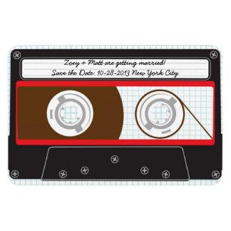 Indie Mixtape (Red/Black) Save the Date v2 Rectangular Photo Magnet
