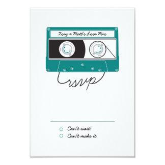 Indie Mixtapes (Teal / Silver) RSVP Card