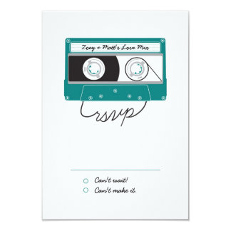 Indie Mixtapes (Teal / Silver) RSVP Card