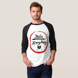 Indie Over Everything Baseball Tee