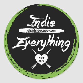 Indie Over Everything Round Sticker