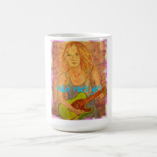 indie rock girl coffee mugs