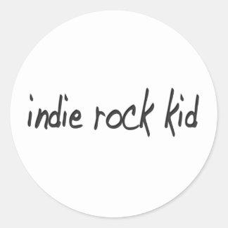 Indie Rock Kid Round Sticker