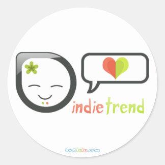 Indie Trend Round Sticker
