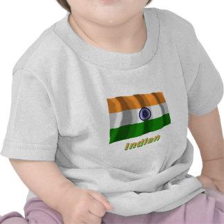 Indien Fliegende Flagge mit Namen Tees