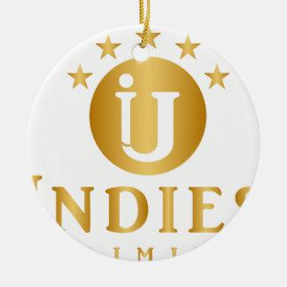 Indies Unlimited 5-Star Logo Ceramic Ornament