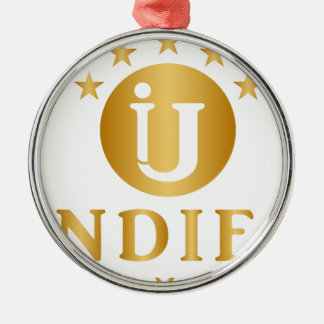 Indies Unlimited 5-Star Logo Metal Ornament
