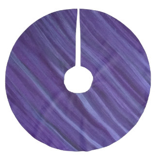 Indifferent Holiday | Purple Violet Plum Lavender Brushed Polyester Tree Skirt