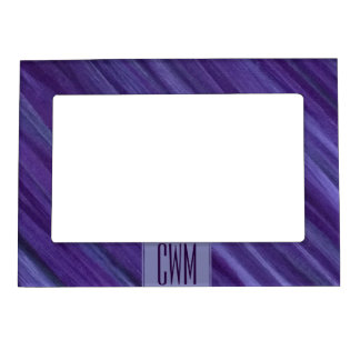 Indifferent Party | Monogram Purple Lilac Plum | Magnetic Picture Frame