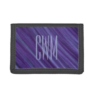 Indifferent Style | Initials Purple Violet Lilac Tri-fold Wallet