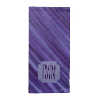 Indifferent Table | Monogram Purple Violet Lilac | Napkin