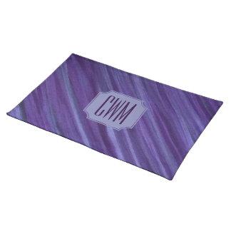 Indifferent Table | Monogram Purple Violet Lilac | Placemat
