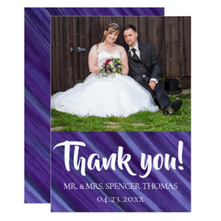 Indifferent Thank You | Royal Purple Violet Lilac Card