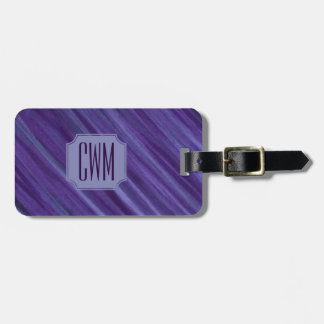 Indifferent Travel | Monogram Purple Lilac Plum | Luggage Tag