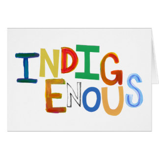 Indigenous native people culture fun colorful art greeting card