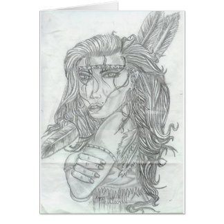 Indigenous Woman Greeting Card