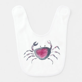 Indigo and Pink Crab Bib