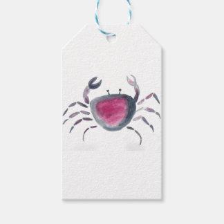 Indigo and Pink Crab Gift Tags