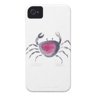 Indigo and Pink Crab iPhone 4 Case