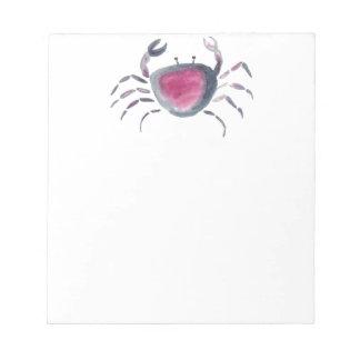 Indigo and Pink Crab Notepad