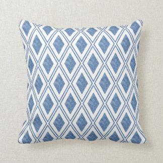 Indigo Blue Diamond Pattern Cushion