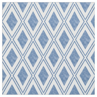 Indigo Blue Diamond Pattern Fabric