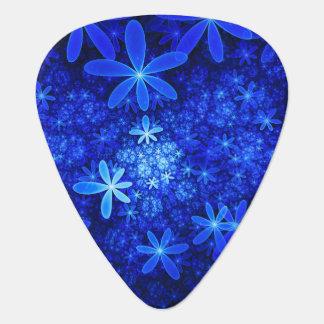 Indigo Blue Flutters Of Flowers Guitar Pick