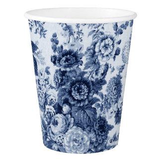 Indigo Blue Foral Toile No.3 Paper Cup