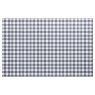 Indigo Blue Gingham Pattern Fabric