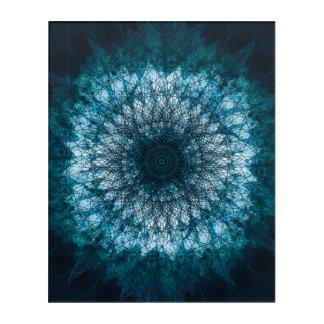 Indigo Blue Mandala Acrylic Wall Art