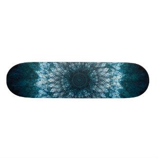 Indigo Blue Mandala Skateboard