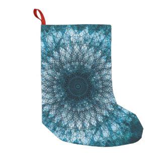 Indigo Blue Mandala Small Christmas Stocking