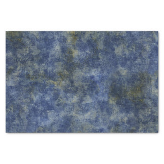 Indigo Blue Rustic Texture Tissue Paper