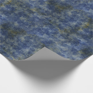 Indigo Blue Rustic Texture Wrapping Paper
